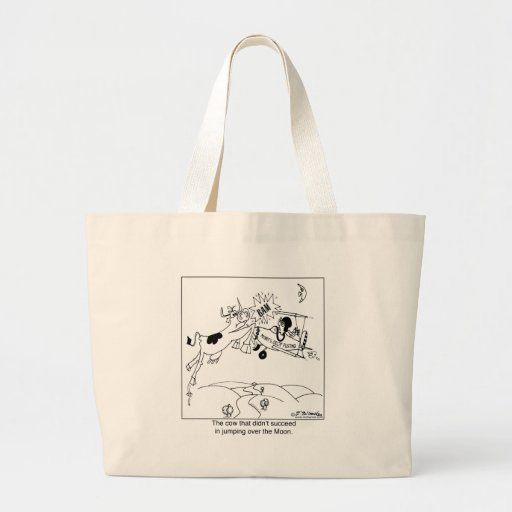 The Cow That Didn't Jump over The Moon Tote Bag