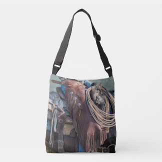 The cowboy way western saddle tote. crossbody bag