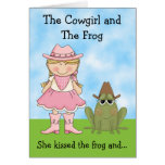 The Cowgirl and the Frog Horse Birthday Greeting Card