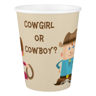 The Cowgirl or Cowboy Gender Reveal Party Cup