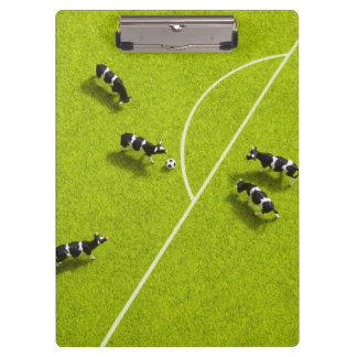 The cows playing soccer clipboard