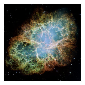 The Crab Nebula. Poster