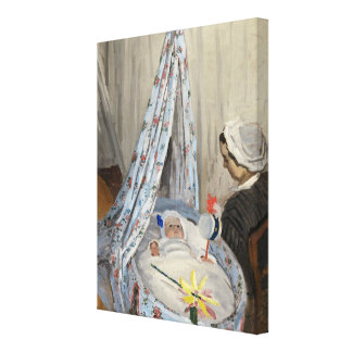 The Cradle, Camille with the Artist's Son Jean Stretched Canvas Prints