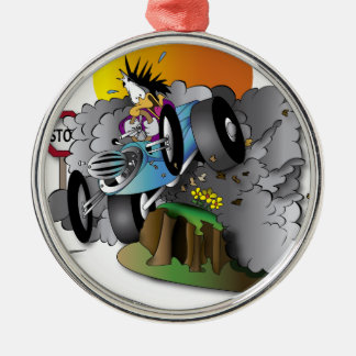 the crash Silver-Colored round decoration