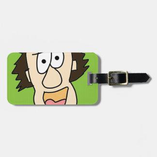the crazy grandpa cartoon luggage tag