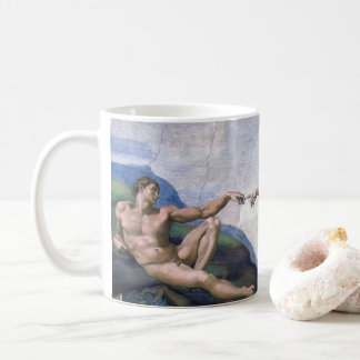 """The Creation of Adam"" and Michelangelo Coffee Mug"