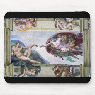 """""""The Creation of Adam"""" and Michelangelo Mouse Pad"""