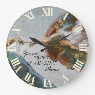 The Creation of Adam by Michael Angelo Wall Clock