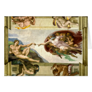 The Creation of Adam by Michelangelo Fine Art Card
