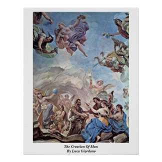 The Creation Of Man By Luca Giordano Posters