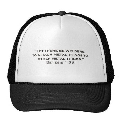The creation of welders. hats