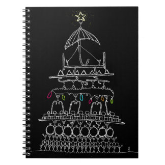 The Creative Christmas Tree [by Doodle Max] Spiral Note Books