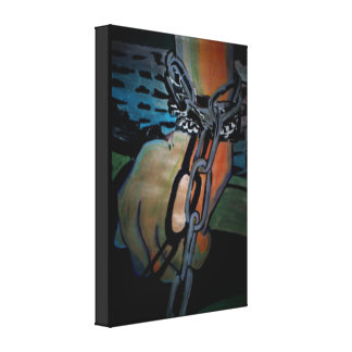 'The Creature Awakes' Stretched Canvas Print