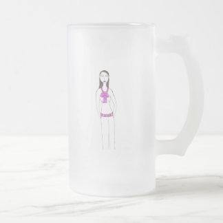 The Creepy Prep Frosted Glass Mug