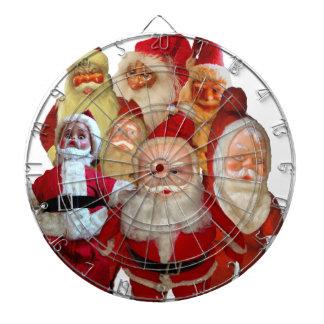 The Creepy Vintage Santa Gang Dartboard