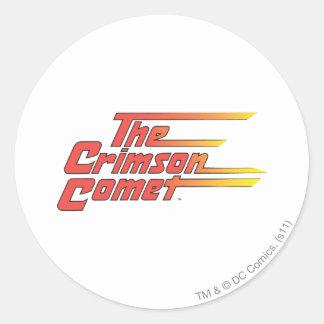 The Crimson Comet Logo Round Sticker