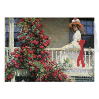 The Crimson Rambler Fine Art Card