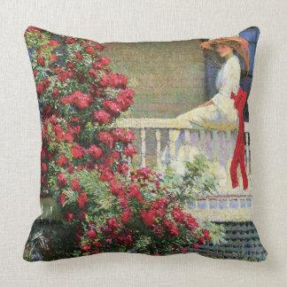 The Crimson Rambler Philip Hale Fine Art Cushions