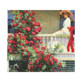 The Crimson Rambler Philip Hale Fine Art Gallery Wrap Canvas