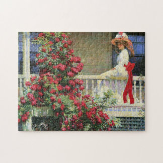 The Crimson Rambler Philip Hale Fine Art Jigsaw Puzzle