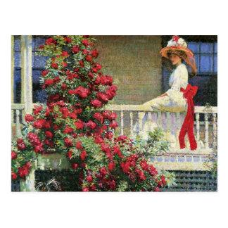 The Crimson Rambler Philip Hale Fine Art Postcard