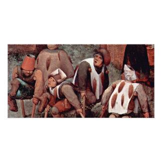 The Cripple By Bruegel D. Ä. Pieter (Best Quality) Customised Photo Card