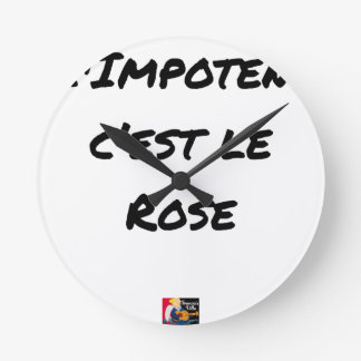 The CRIPPLE, It IS the PINK - Word games Round Clock