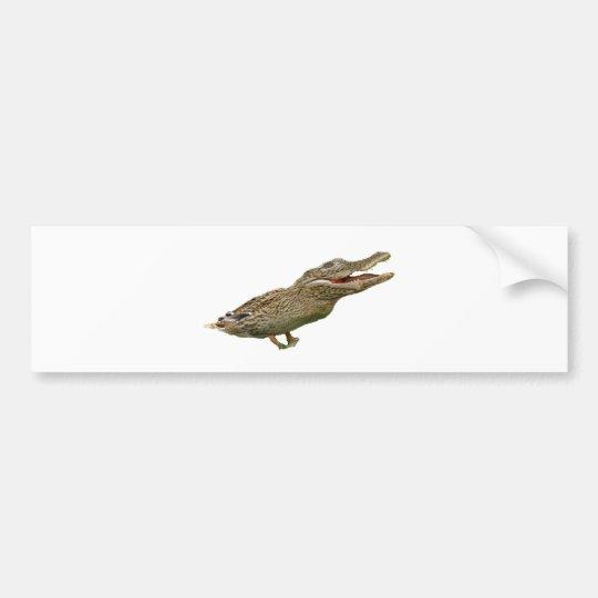 The Crocoduck Bumper Sticker