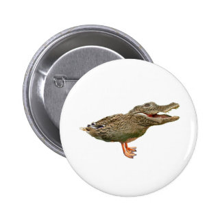 The Crocoduck with feet 6 Cm Round Badge