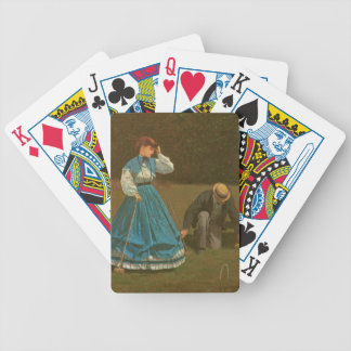 The croquet game, 1866 (oil on canvas) bicycle playing cards