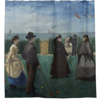 The Croquet Party by Manet Shower Curtain