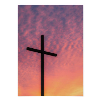 The Cross at Sunset Poster