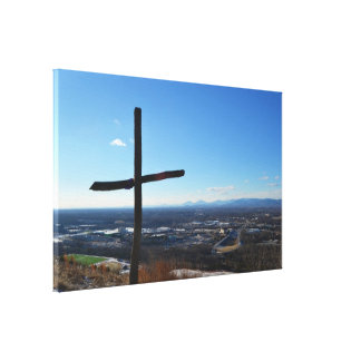 The Cross Stretched Canvas Print