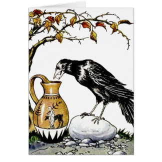 The Crow and the Pitcher Card