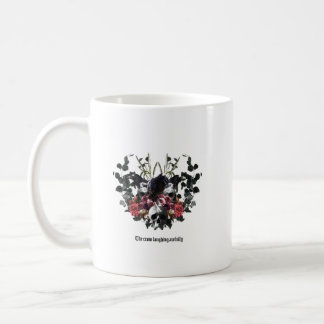 The Crow Laughing Awfully Coffee Mug