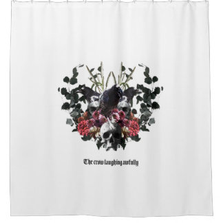 The Crow Laughing Awfully Shower Curtain