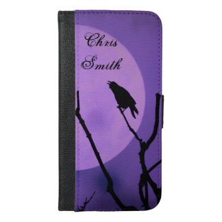 The Crow, The Moon, Lavender Sky *personalize* iPhone 6/6s Plus Wallet Case