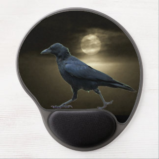 The Crow Walks By Moonlight Gel Mouse Pad