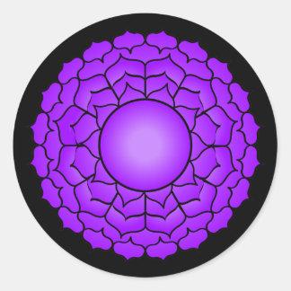 The Crown Chakra Round Sticker
