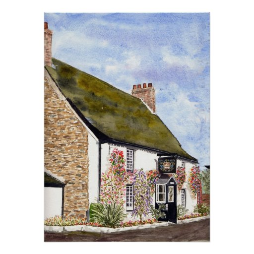 'The Crown Inn (St. Ewe)' Print