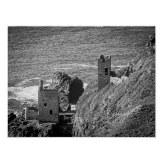 The Crown Mines engine houses, Botallack, Cornwall Poster