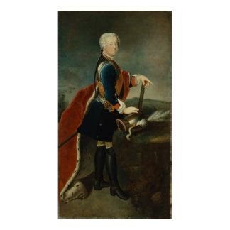 The Crown Prince Frederick II, c.1736 Poster