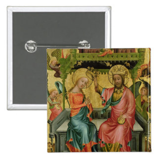 The Crowning of the Virgin, from the right wing 15 Cm Square Badge