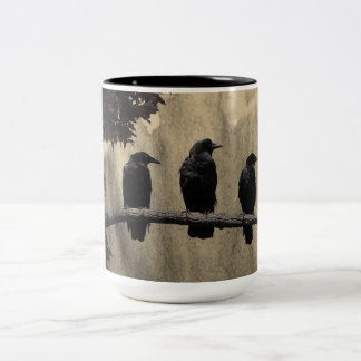 The Crows On The Branch Two-Tone Coffee Mug