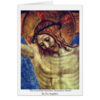 The Crucified And San Domenico Detail Card