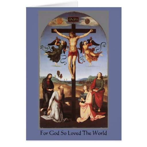 """The Crucifixion"" by Raphael Greeting Cards"