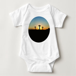 The Crucifixion Crosses at Sunset Baby Bodysuit