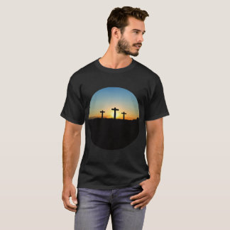 The Crucifixion Crosses at Sunset T-Shirt