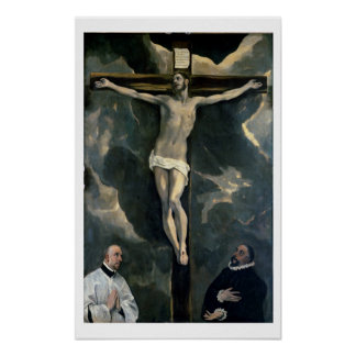 The Crucifixion with Two Donors, c.1580 (oil on ca Poster