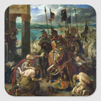 The Crusaders' entry into Constantinople Square Sticker